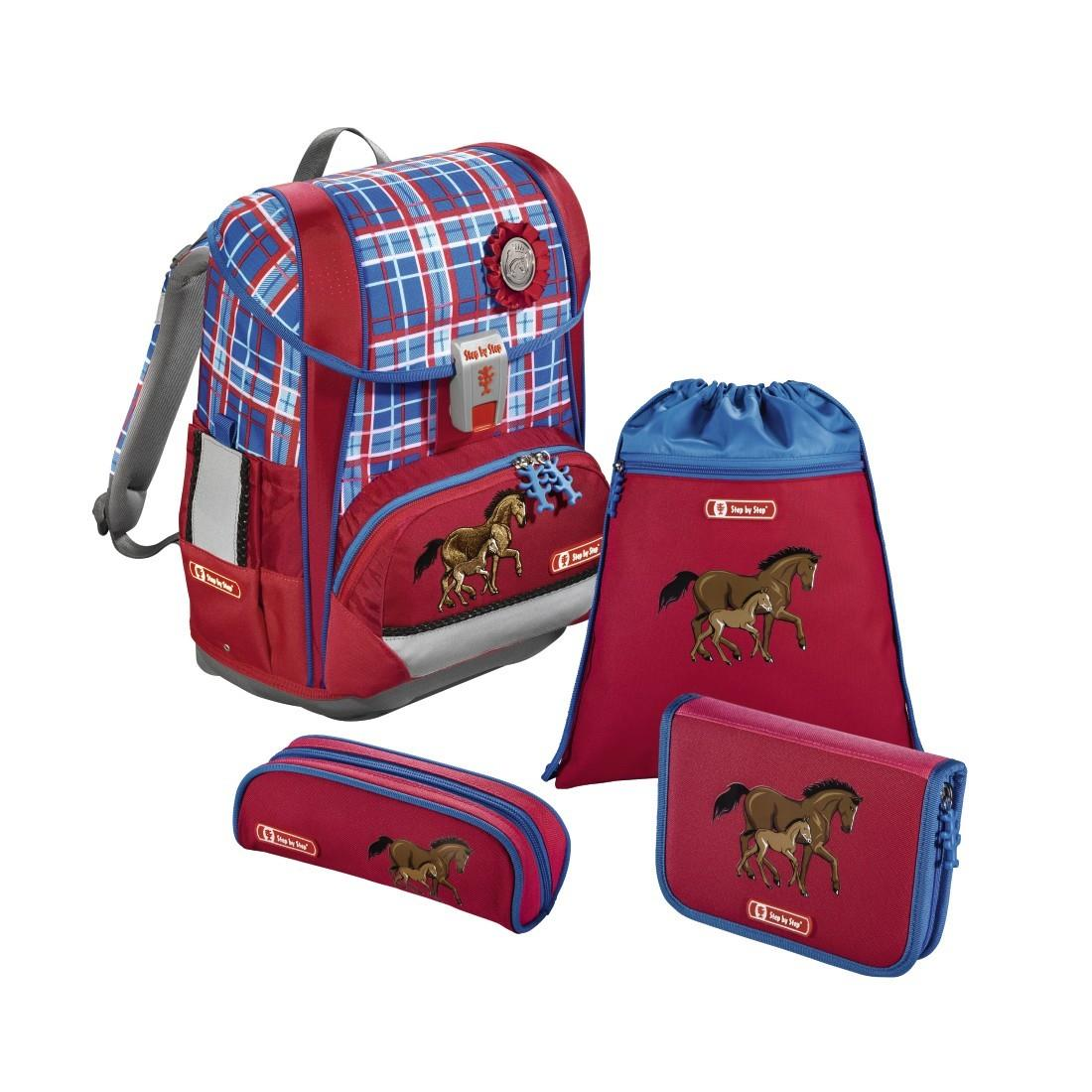 Step by Step Schulranzenset LIGHT 2 Horse Family 4-teilig