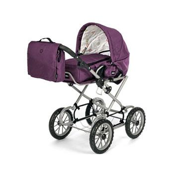 brio 24890 puppenwagen mit wickeltasche violett duo. Black Bedroom Furniture Sets. Home Design Ideas