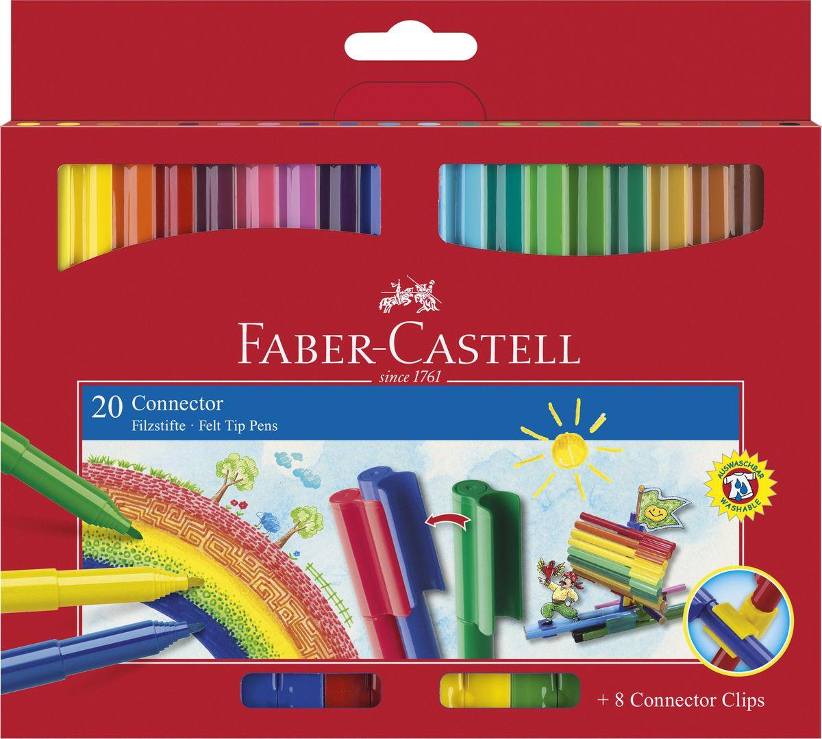 faber castell fasermaler connector pen 20er etui duo. Black Bedroom Furniture Sets. Home Design Ideas