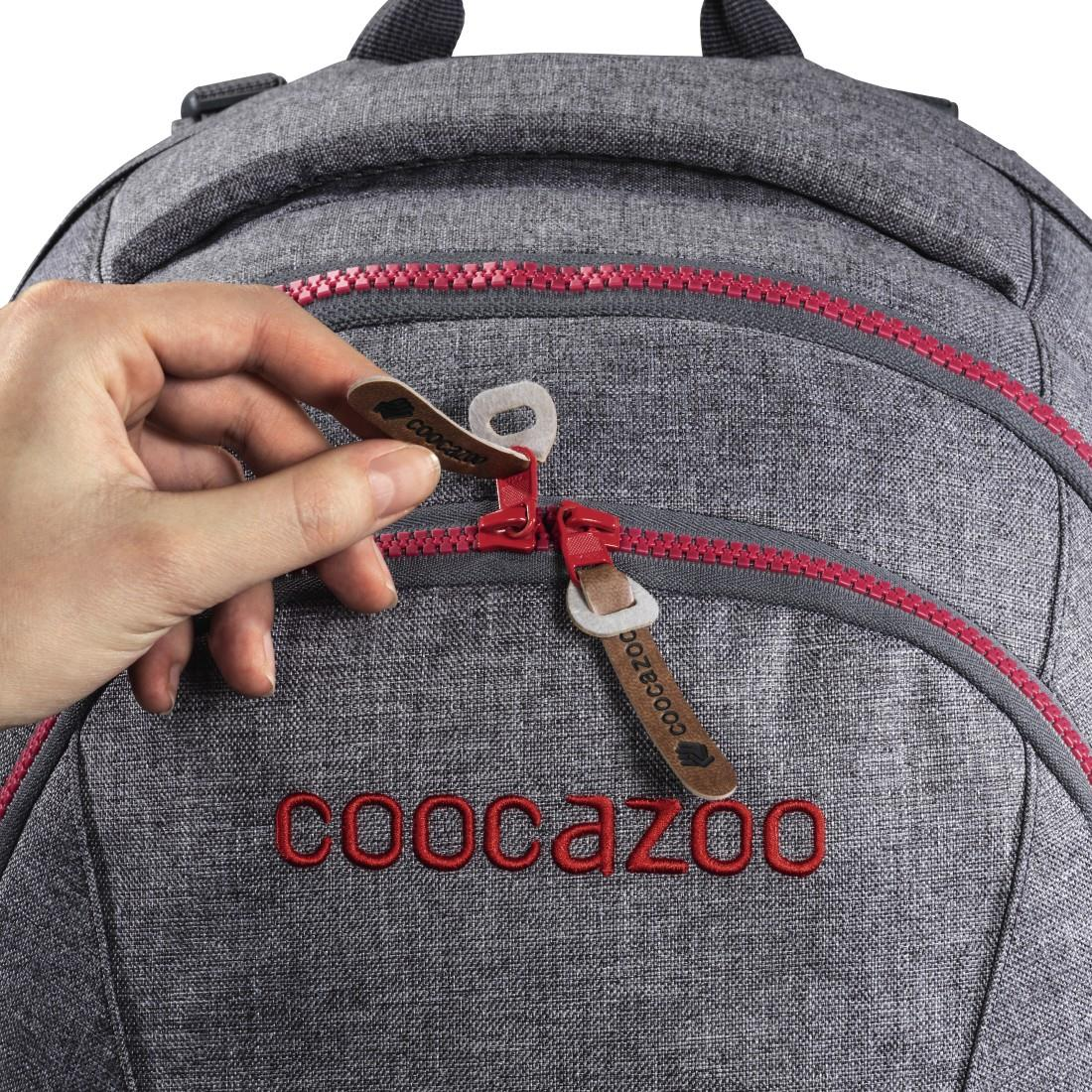 Coocazoo MatchPatch Synthetic Leather, Black