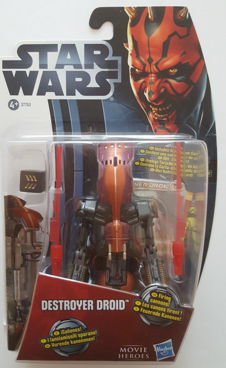 Hasbro Star Wars Figur Destroyer Droid mit Duellkarte, MH12