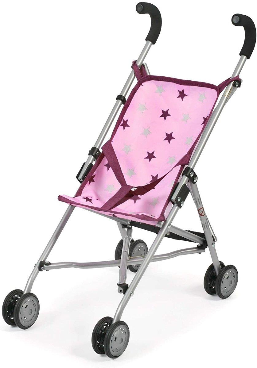 Bayer Chic Puppenbuggy Roma, pink Sterne