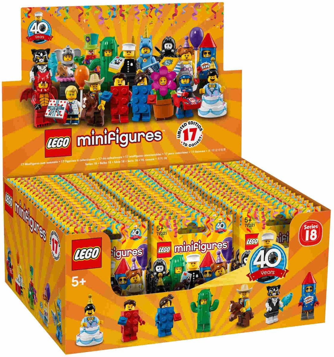LEGO® Minifigures 71021 Serie 18: Party, 60 Stück