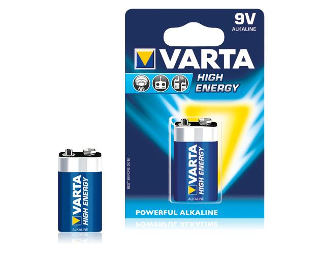 Varta Batterie Alkaline 9V High Energy E-Block