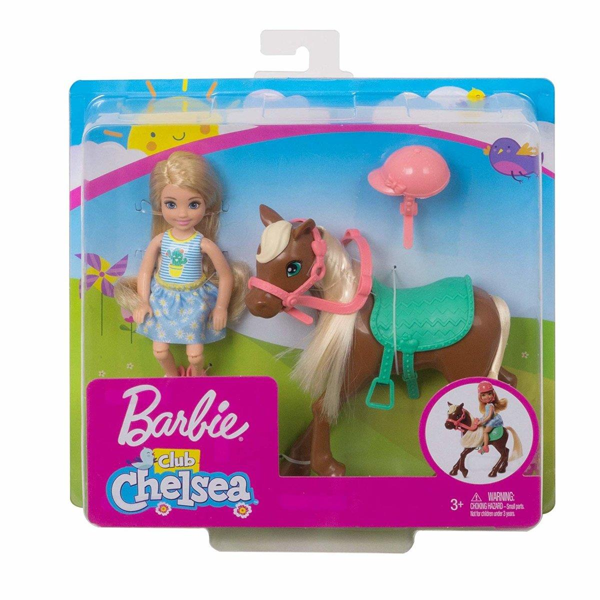 Barbie Chelsea Puppe & Pony, blond
