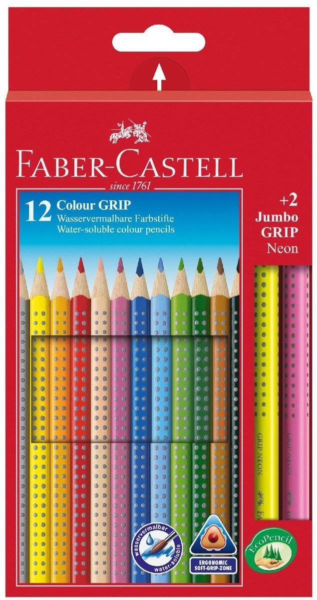 faber castell 201170 farbstifte colour grip 12er etui 2 jumbo grip neon duo. Black Bedroom Furniture Sets. Home Design Ideas