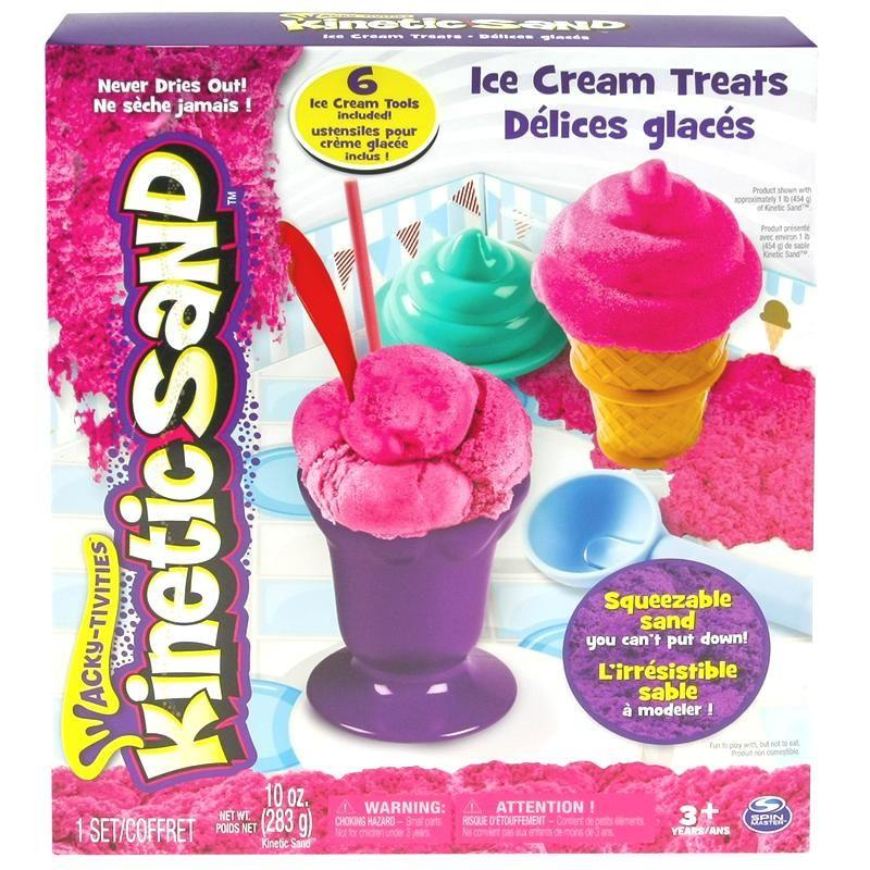 Spin Master Kinetic Sand Ice Cream Theme Set, 283g